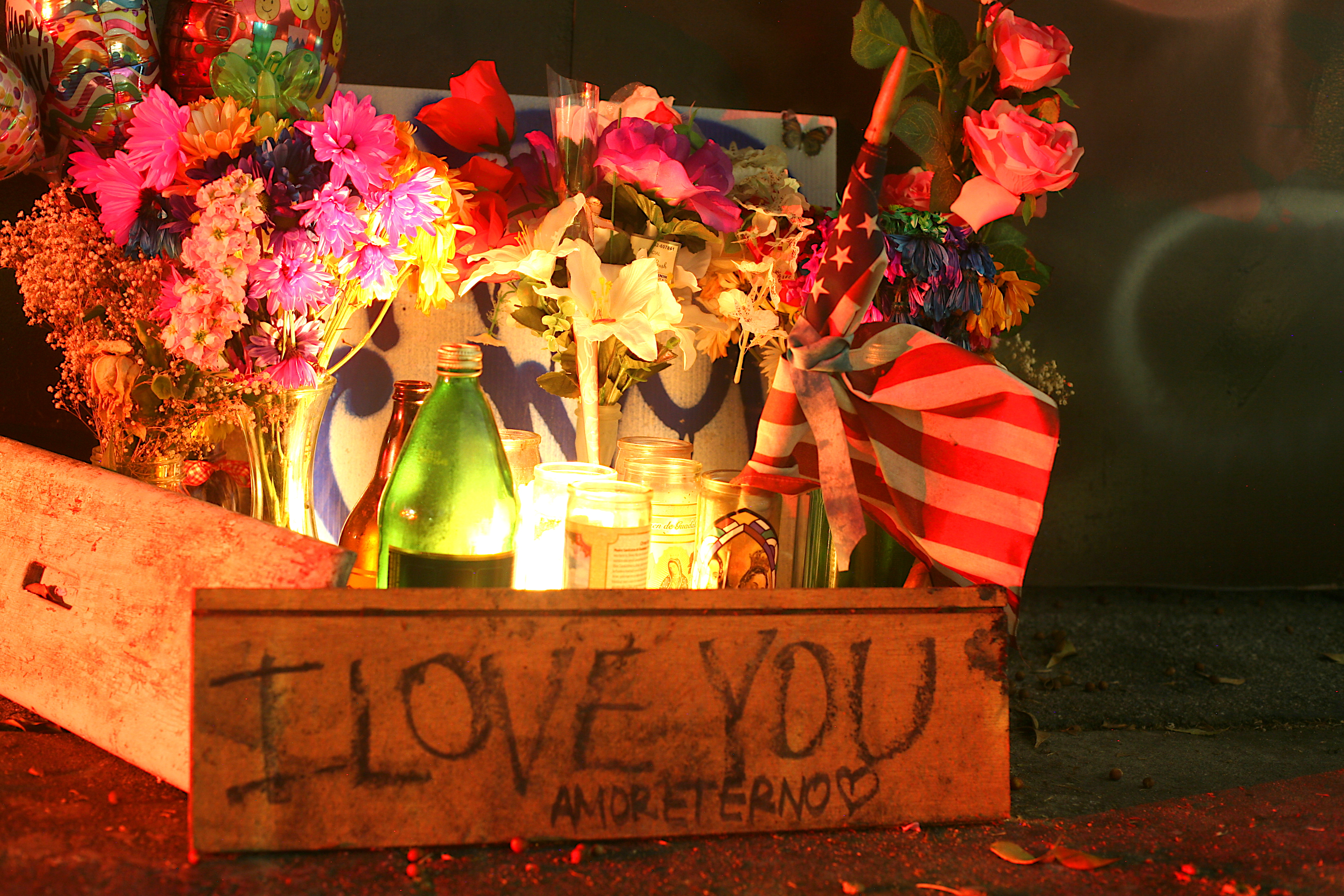 A candlelight vigil for Cary Rodriguez, 21, at Melrose and North Westmoreland avenues
